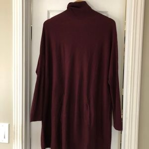 Soft Surroundings Maroon Tunic Sweater Small